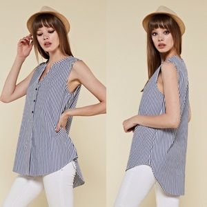 NWOT [Yellow Star] Boutique Striped Top